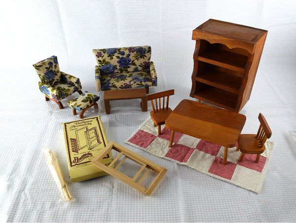 Lot of Vintage Doll Furniture 15 Pieces - ChaseyBlueVintage