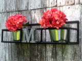 Rebar Window Sill Plant Holder Optional Monogram Initial Outside Home Decor - ChaseyBlueVintage