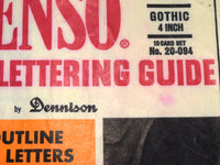 "Stenso Large 4"" Stencil Lettering Guide 10 Sheets of Gothic Letters Upper Case Alphabet and Numbers - ChaseyBlueVintage"