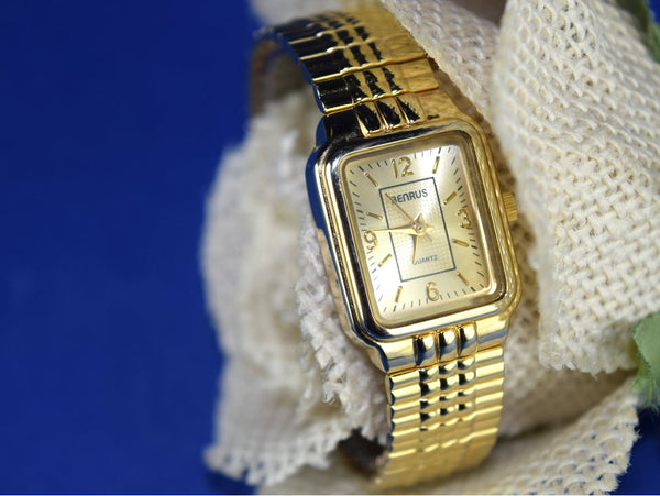 Beautiful Benrus Ladies Gold Watch Vintage with Japan Movement - ChaseyBlueVintage