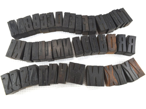 46 Antique Wood block Letters Typeset Letterpress - ChaseyBlueVintage