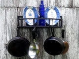 Rebar Pot and Pan Rack with Shelf Industrial Handmade Decor - ChaseyBlueVintage