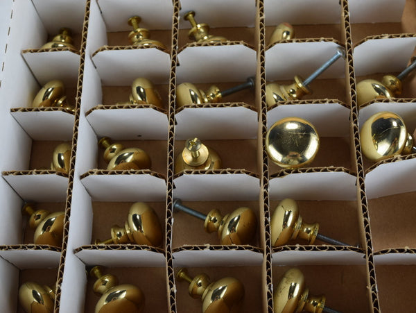 Salvaged Brass Knobs Cabinet Drawer Hardware - ChaseyBlueVintage
