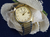 Vintage Men's Wristwatch Jules Jurgensen Quartz Japan Movement - ChaseyBlueVintage