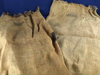 2 Vintage Burlap Sacks Yellow Black Graphics Garden Marble - ChaseyBlueVintage