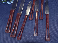 Vintage Stanhome Stainless Steel Knife Set of 7 Stanley Home Knives - ChaseyBlueVintage