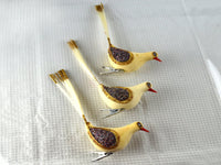 Vintage Clip On Christmas Bird Ornaments White Set of 3 - ChaseyBlueVintage