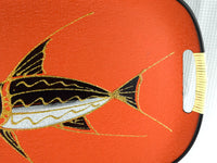 Mid Century Orange Sword Fish Tray Vintage Nautical Serving Tray - ChaseyBlueVintage