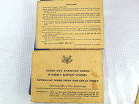 Pair of WW II War Ration Books 2 and 4 with Rationing Stamps Inside - ChaseyBlueVintage