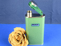 Retro Metal Stanley Thermos Pocket Flask with Attached Lid - ChaseyBlueVintage