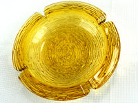 Soreno Amber Ashtray Large and Heavy Glass by Anchor Hocking - ChaseyBlueVintage
