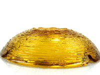 Soreno Amber Ashtray Large and Heavy Glass by Anchor Hocking