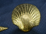 4 Vintage Brass Seashells for Wall or Table Decor - ChaseyBlueVintage