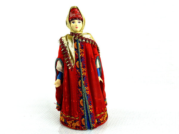 Russian Porcelain Folk Doll Vintage Discontinued In Traditional Costume - ChaseyBlueVintage