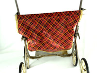 Red Vintage Doll Stroller with Metal Frame and Rubber Tires - ChaseyBlueVintage