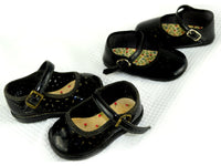 Vintage Girl Black Patent Shoes Size 1 Toddler - ChaseyBlueVintage