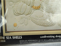 Candlewicking Kit New Sea Shells Beach 14 X 14 NIP Unopened - ChaseyBlueVintage