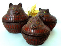 Antique Wicker Nesting Cat Baskets Set of 3 - ChaseyBlueVintage