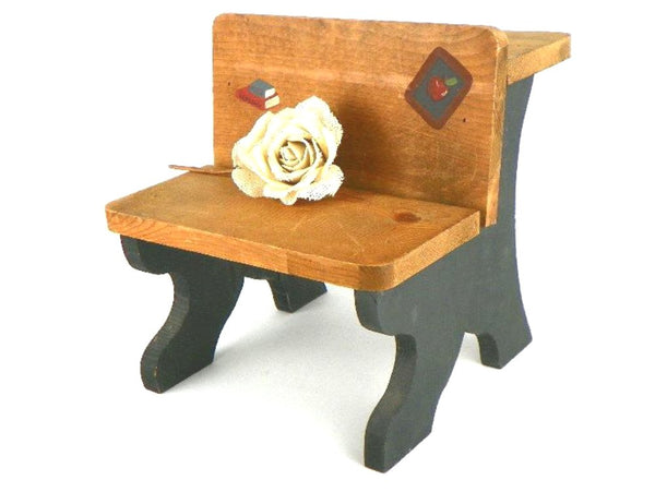 Vintage Wood Doll Size School Desk Timeout Chair Plant Stand Decor - ChaseyBlueVintage