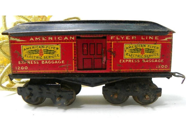 Antique American Flyer Reefer Train Car 1200 Pre WWI Metal Tinplate - ChaseyBlueVintage