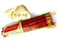 Unused Coca Cola Red Advertising Pencils One Dozen Mid Century in Package - ChaseyBlueVintage