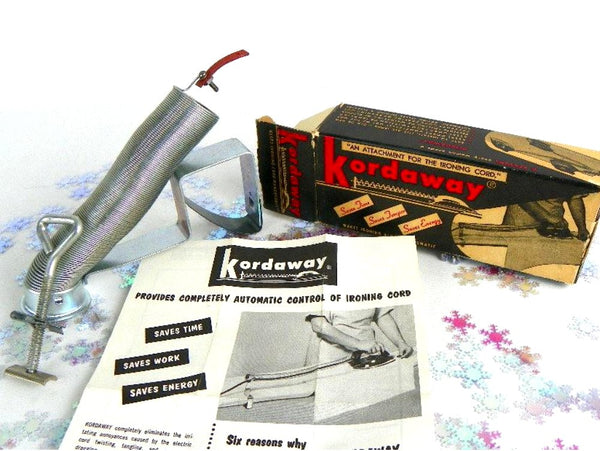 50s Kordaway Clothes Iron Attachment To Keep Cord Out Of Your Way - ChaseyBlueVintage