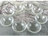 Set of 8 Vintage Clear Glass Ramekins Salt Cellars - ChaseyBlueVintage