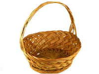 Large Vintage Wicker Basket with Redish Brown Accent - ChaseyBlueVintage