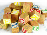 Wood Alphabe Blocks Assortment of 35 for Crafting - ChaseyBlueVintage