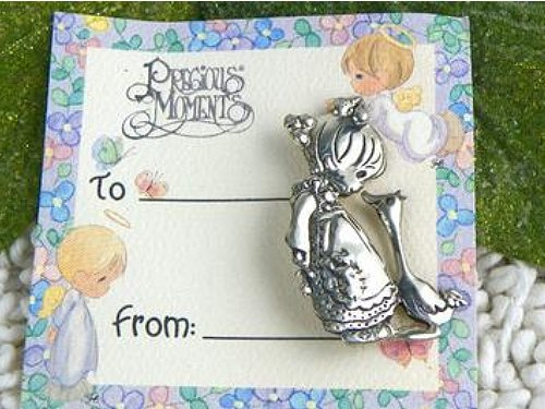 Vintage Precious Moments Sterling Silver 925 Brooch - ChaseyBlueVintage