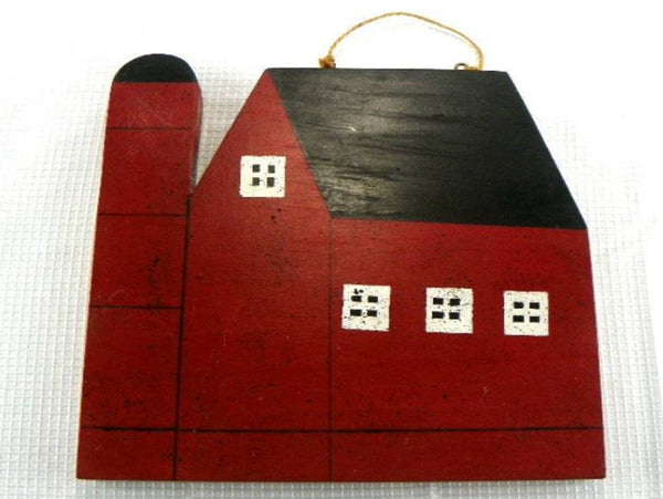 Vintage Red Barn Wood Plaque Wall Hanging Amish Made - ChaseyBlueVintage