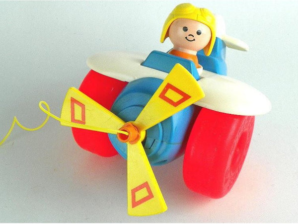 Vintage Little People Plane Pull Toy Fisher Price - ChaseyBlueVintage