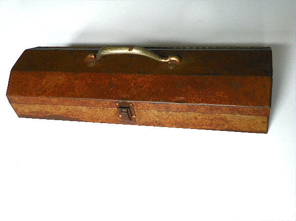 Long Vintage Tool Box All Metal With Solid Lock and Hinged Lid - ChaseyBlueVintage