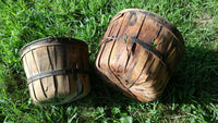 2 Split Wood Fruit Baskets with Metal Handles - ChaseyBlueVintage