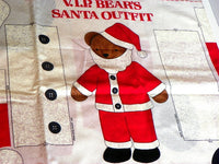 "Santa Claus Suit Fabric for a 24"" Bear Sewing Panel Uncut - ChaseyBlueVintage"
