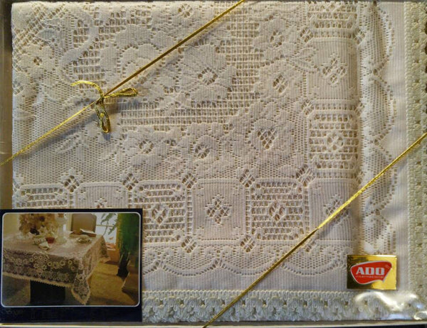 Lace Rectangular Tablecloth for Elegant Formal Dining Vintage New in Box - ChaseyBlueVintage