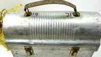 Mid Century Aluminum Lunch Box Bucket with Metal Handle - ChaseyBlueVintage