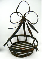 Vintage Large Wrought Iron Planter Holder for Hanging or Sitting - ChaseyBlueVintage