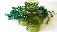 Vintage Green Whitehall Coffee Cups Set of 4 Pedestal Cups - ChaseyBlueVintage
