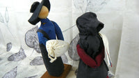 Amish Doll Figurines Primitive Grain Filled Hand Made - ChaseyBlueVintage