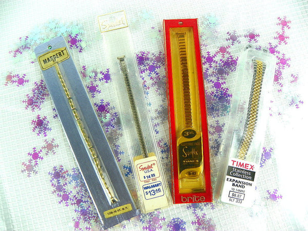Your Choice of Vintage Watch Bands Timex Speidel Marbert in Original Packaging - ChaseyBlueVintage