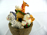 Retro Noah's Ark Wind Chime and Figurine - ChaseyBlueVintage
