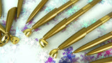 Vintage Gold Desk Pens with Holders for Wedding Crafting - ChaseyBlueVintage