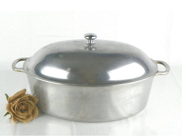 50s Aluminum Roaster 15 Inch Roasting Pan by Household Institute - ChaseyBlueVintage