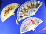 Mid Century Hand Fan Collection 3 Souvenir Fans Wall Decor - ChaseyBlueVintage
