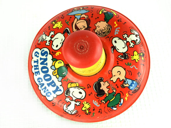 Vintage Snoopy Spinning Top with All the Peanuts Gang - Chaseybluevintage