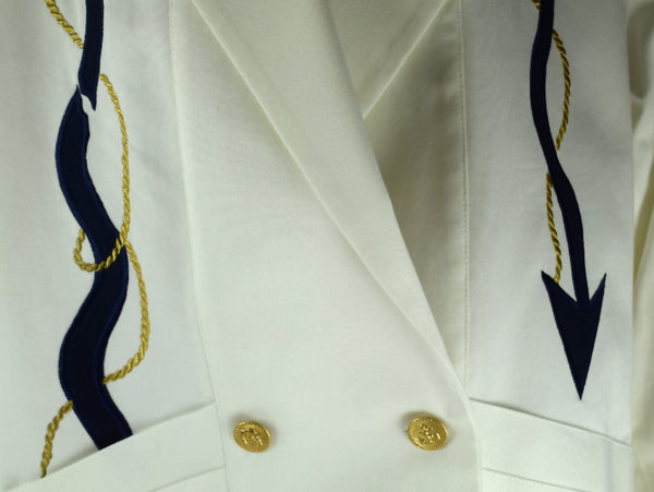 ... Vintage Howard Wolf Linen Jacket Double Breasted Nautical Embroidered  Embellishment - Chaseybluevintage ... 2242d3d8c