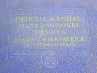 Vintage Blue Shelf Book Official Manual State of Missouri 1965 - 1966 - ChaseyBlueVintage
