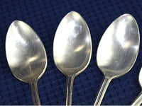 Vintage Ice Tea Spoons Silver Plate Silverware Set of 11 Lady Doris 1929 by WM Rogers - ChaseyBlueVintage