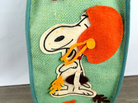 Unique Snoopy Football Tote Vintage Peanuts Gang Autumn Felt Applique Bag - Chaseybluevintage